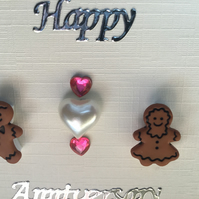 A cute Gingerbread button card