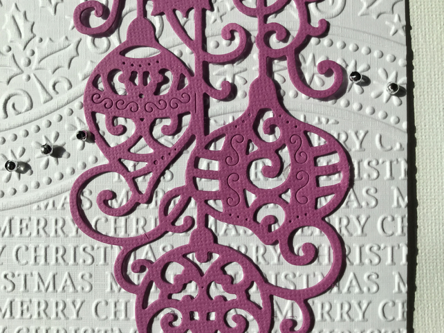 Pretty embossed Christmas card