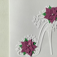 Pretty shoe Christmas card