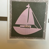 A boat card suitable for any occasion CC014