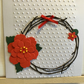 Pack of four Christmas wreath cards