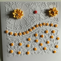 A pretty, floral embossed card for any occasion. CC041