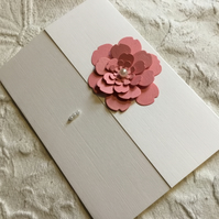 Pretty, hand made flower card