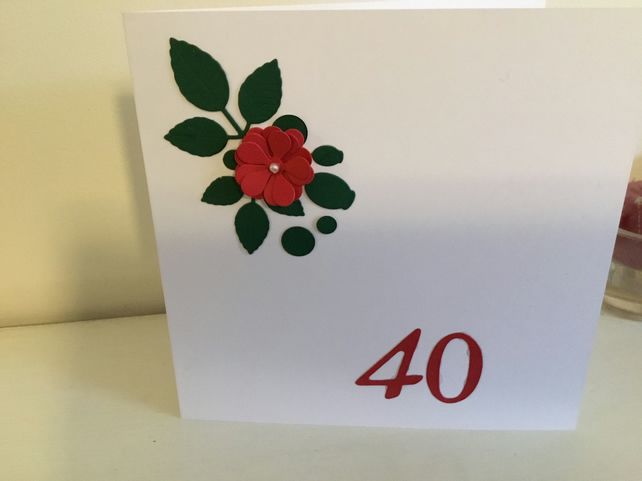 A pretty card suitable for an Anniversary, Birthday or Mothers Day
