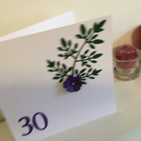 Pretty Birthday, Anniversary  or Mothers Day card. CC192