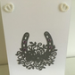 Beautiful horseshoe wedding card, wedding invitation card