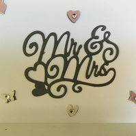 Pretty 'Mr & Mrs' card with co-ordinating hearts and butterflies. CC199