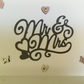 Pretty 'Mr & Mrs' card