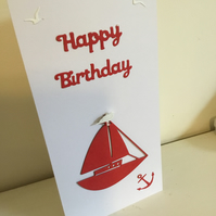 Nautical themed birthday card
