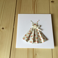Pretty dress card. CC222