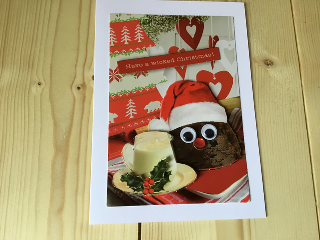 Naughty puds christmas card. CC228