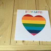 Stay safe charity card. CC231