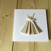Pretty gingham dress card. CC221