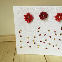 Pretty, bright embossed card CC237