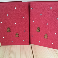 Cute gingerbread couple card CC235