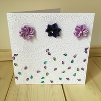 Pretty embossed flower card CC236