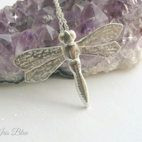 Dragonfly Necklace Sterling Silver