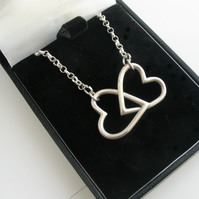 Hearts  Necklace Silver