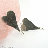 Heart Earrings Sterling Silver