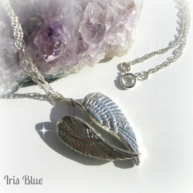 Angel Wings Silver Necklace