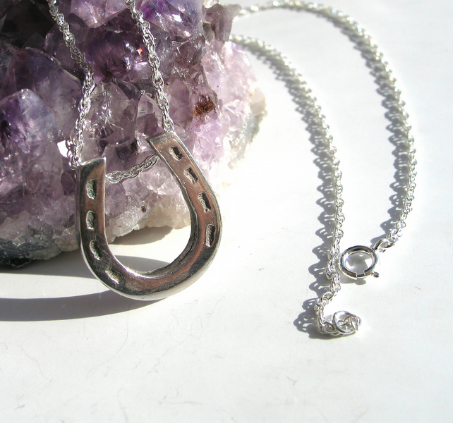 Horseshoe Necklace Wedding or Good Luck Gift
