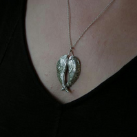 Angel Wings Silver Necklace Large