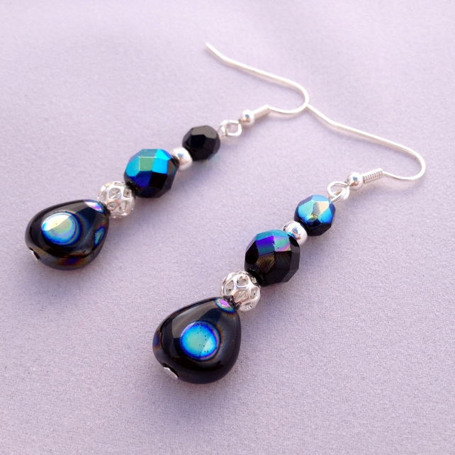 Black Twinkle Earrings