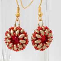 Red Sparkle Earrings
