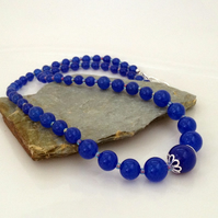 Royal Blue Quartz Necklace