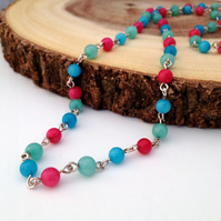 Colourful Quartzite Necklace