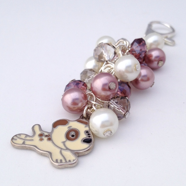 Running Dog Handbag Charm