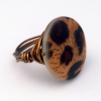 Brown Shell Coin Ring