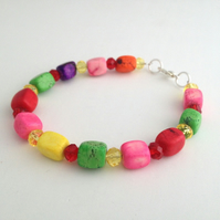 Multi-Colour Magnesite Bracelet