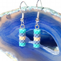Short Peyote Tube Earrings