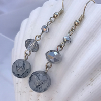 Grey Swirl Earrings
