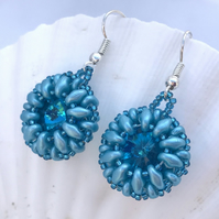 Metallic Aqua Earrings
