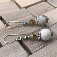 Howlite & Crystal Earrings