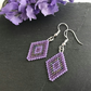 Shades of Purple Beaded Diamond Shaped Earrings