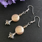 Peach Glass Pearl Coin Earrings