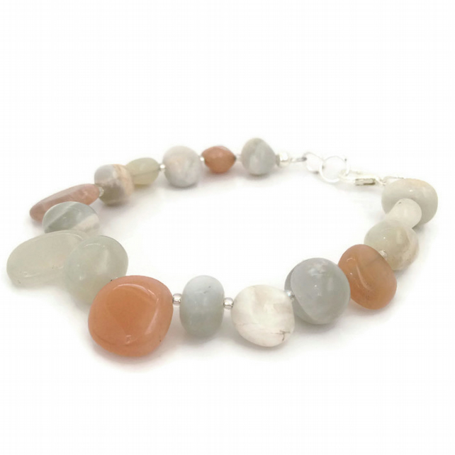 SALE - Multi-Colour Moonstone Nugget Bracelet