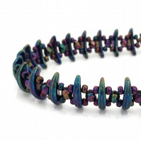 SALE - Purple Iris Bracelet