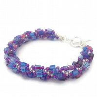 SALE - Berries Bead Weave Bracelet