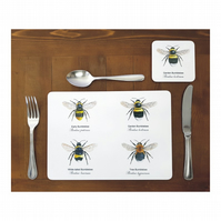 Bumblebee Place mats - (Set of 4)