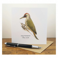 Green Woodpecker - Greeting Card