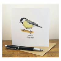 Great Tit - Greeting Card