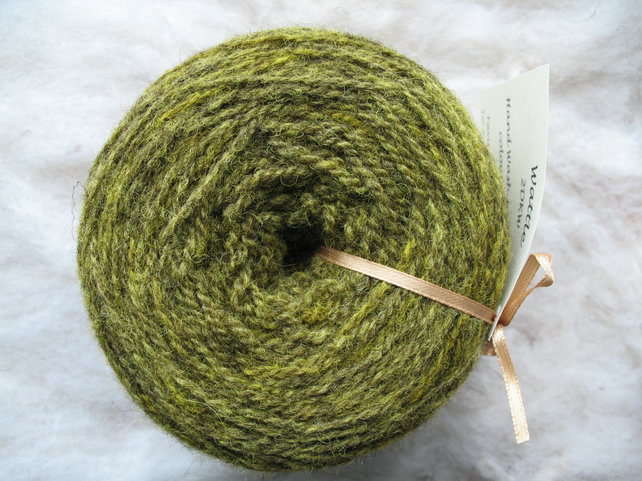 Hand-dyed Pure Jacob Double Knitting Wool Wattle 100g