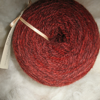 Hand-dyed Pure Jacob Double Knitting Wool Rust 100g