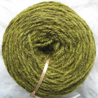 Hand-dyed Pure Jacob Light Aran Wool Wattle 100g