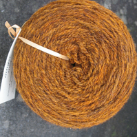 Hand-dyed Pure Jacob Light Aran Wool Ginger 100g