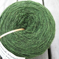 Hand-dyed Pure Jacob Light Aran Wool Moss 100g